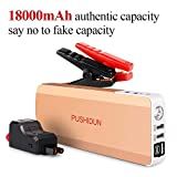 Portable Car Jump Starter Kit 1000A 18000mAh with LED Emergency Flashlights Auto Battery Booster Jumper Power Pack(up
