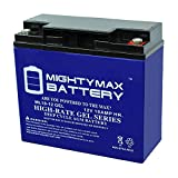 Mighty Max Battery 12V 18AH Gel Battery for Booster PAC ES2500, SLA,VRLA RECH Brand Product